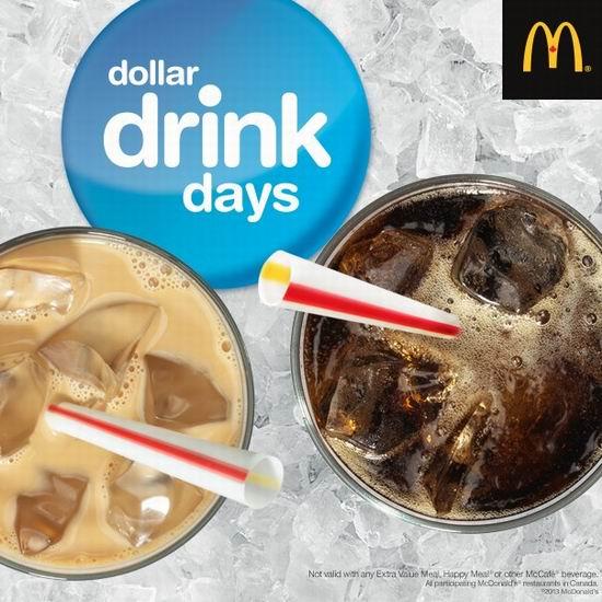 McDonald's 麦当劳 $1夏日冷饮又来了!