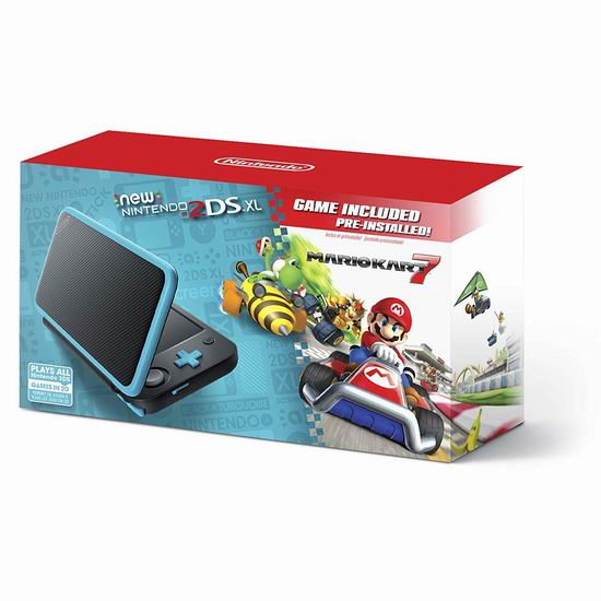 历史新低!New Nintendo 任天堂 2DS XL 掌上游戏机 169.99加元包邮!预装《马里奥赛车7》!3色可选!