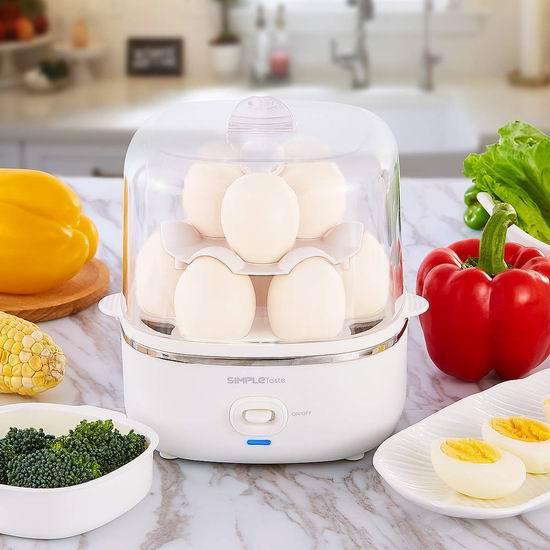 SimpleTaste 双层10蛋 多功能快速煮蛋器 25.49加元!