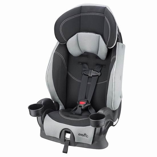 Evenflo Chase Harnessed 加高汽车安全座椅 90.16加元包邮!