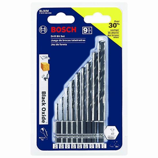历史新低!Bosch 博世 BL9IM 高扭矩钻头9件套3.9折 10加元!