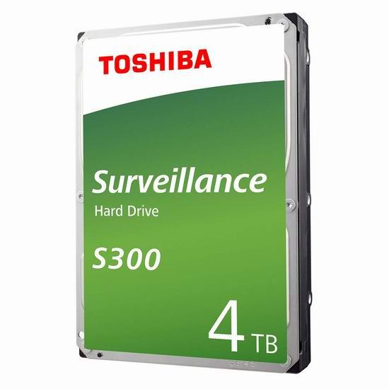 金盒头条:历史新低!Toshiba 东芝 S300 Surveillance 监控及视频流专用 4TB 机械硬盘 129.99加元包邮!