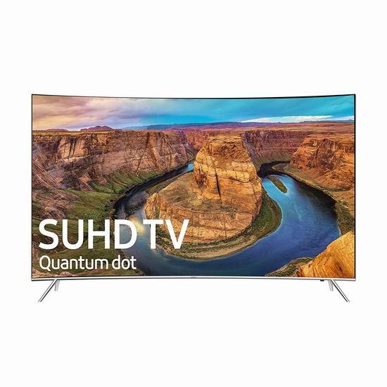 历史新低!Samsung 三星 UN55KS8500 55英寸 4K超高清 量子点 曲面屏智能电视 867.46加元包邮!