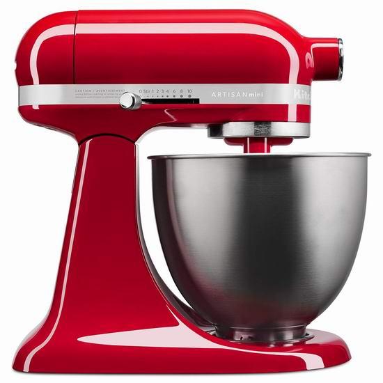 KitchenAid 厨宝 Artisan 名厨系列 KSM3311XER 3.5夸脱 多功能立式厨师机 299.99加元包邮!2色可选!