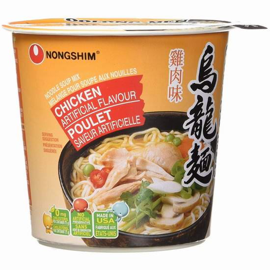 历史新低!Nongshim 韩国农心 Oolong 鸡肉 乌龙面/方便面(6桶)4.4折 4.54加元!2种口味可选!