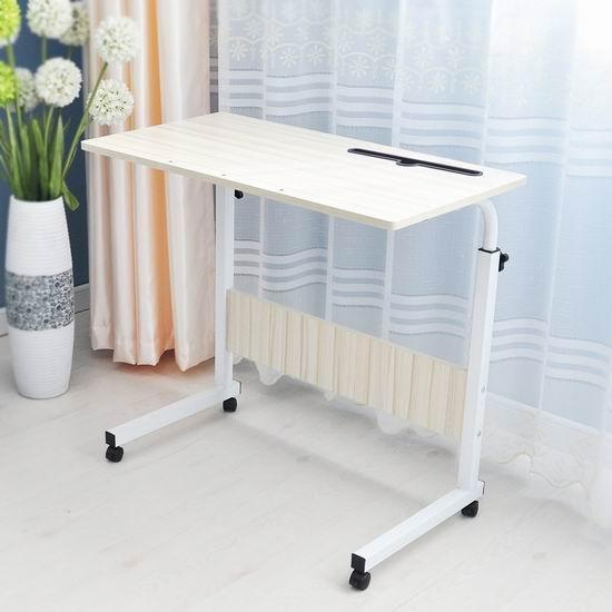 DlandHome 31.4英寸 便携式可调节 床边/沙发电脑桌 33-35加元限量特卖并包邮!3色可选!
