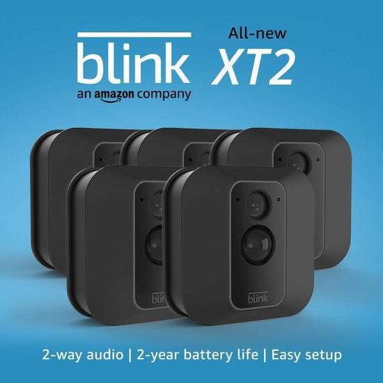 历史最低价!新品 亚马逊 Blink XT2 室内/室外 家用安防智能摄像头2件套5.7折 194.99加元包邮+送价值99.99加元Echo Show 5智能显示器!另有1-5摄像头套装97.99加元起!