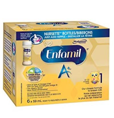 Enfamil 美赞臣 A+ 1段即开即饮液体配方奶 9.48加元(  6X59毫升)+包邮!