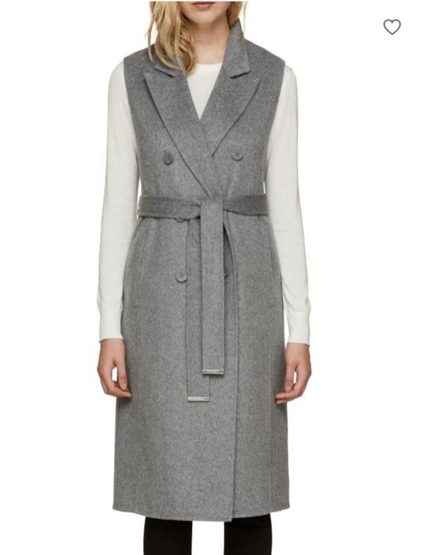 SOIA & KYO Laverne 羊毛混纺双排扣无袖大衣 276.5加元,原价 395加元,包邮