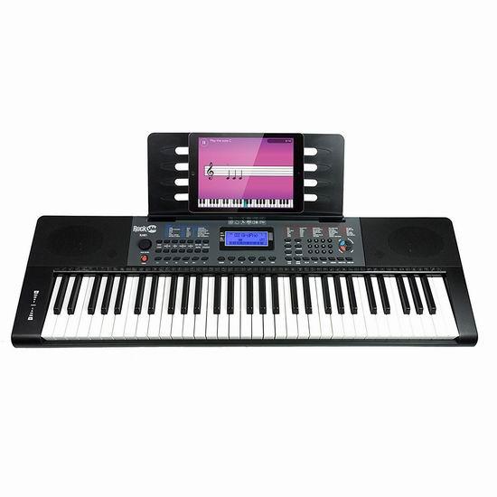 RockJam RJ461 61键电子琴 139.99加元包邮!