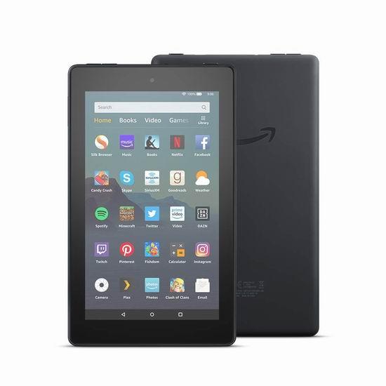 新品 Amazon New Fire 7 7英寸平板电脑(16GB/32GB) 59.99-79.99加元包邮!2色可选!