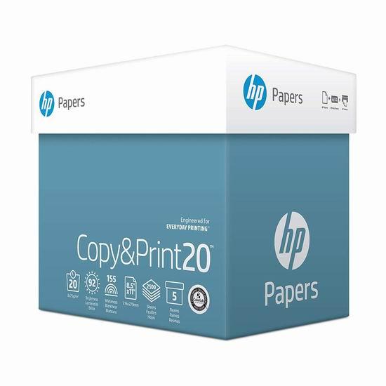 历史新低!HP 惠普 Everyday 2500张打印复印多用途纸 35.99加元包邮!