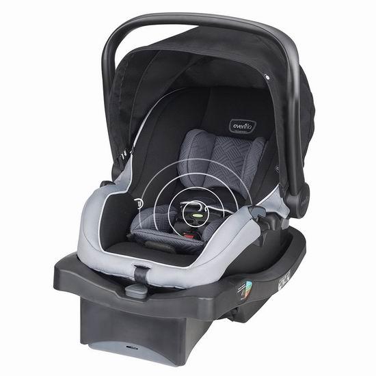 历史新低!Evenflo LiteMax 35 SensorSafe 车载智能婴儿提篮4.2折 96.58加元包邮!
