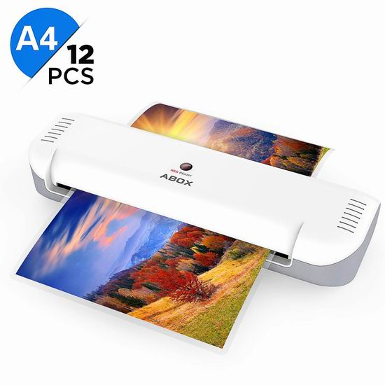ABOX 9英寸家用塑封机 15.29加元限量特卖!送12张塑封膜!