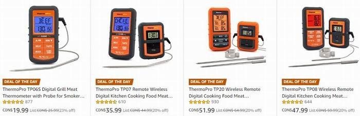 金盒头条:精选多款 ThermoPro 无线远程温度计\计时器 19.99加元起!
