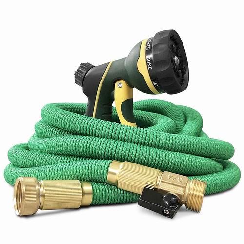 N-Green 25/50/75/100英尺弹性伸缩浇花水管+喷头 28.62-54.97加元限量特卖并包邮!