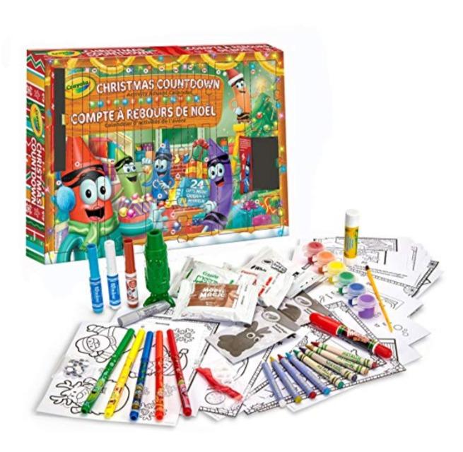 Crayola Christmas Countdown 蜡笔绘画套装 5.99加元,原价 22.99加元