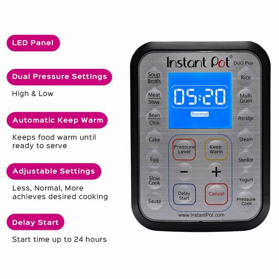 Instant Pot IP-DUO Plus60 6夸脱 9合一多功能电压力锅 119.99加元包邮!