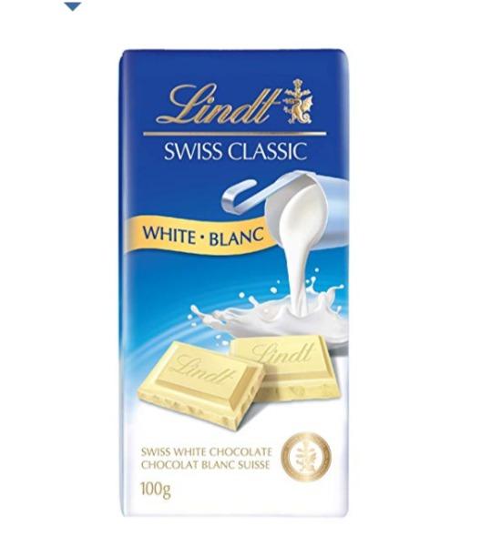 LINDT 瑞士莲白色、经典牛奶巧克力 1.97加元,原价 3.69加元