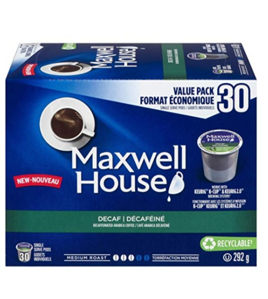 历史最低价!Maxwell House 无咖啡因 K-Cup咖啡胶囊(30粒) 11.56加元!