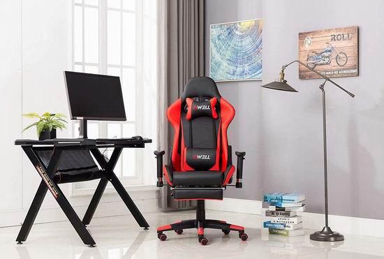 EDWELL 人体工学 高靠背赛车办公椅/游戏椅 135.99-161.49加元限量特卖并包邮!5色可选!