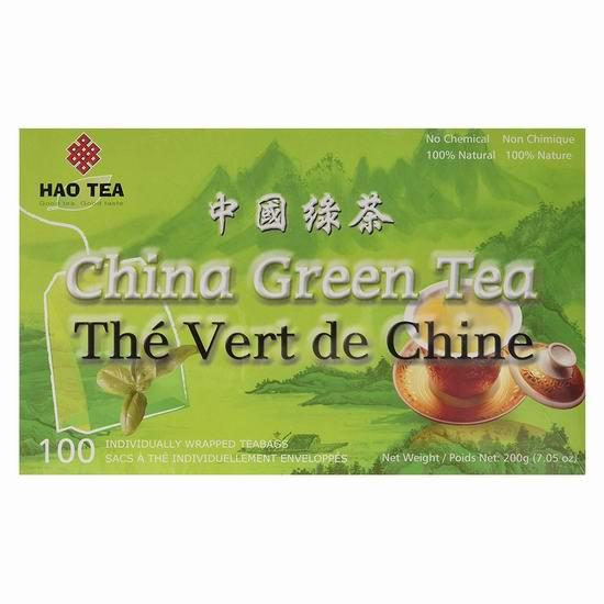 Hao Tea OS40022S China Green Tea 中国绿茶(100包) 3.78加元!