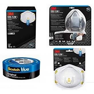 金盒头条:精选26款 3M 防护口罩、油漆胶带、防护眼镜、墙面打磨海绵、修补腻子等特价销售,售价低至2.27加元!
