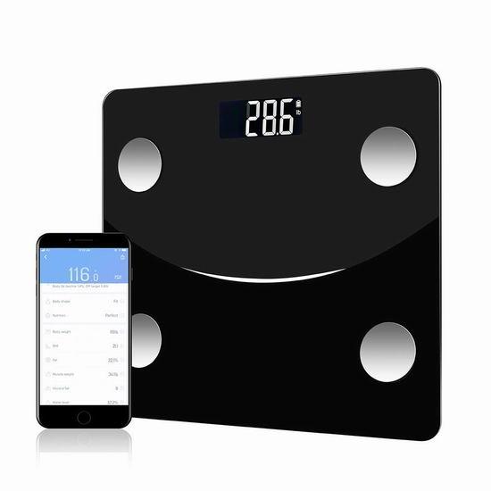 Yopay 智能蓝牙无线 体脂/体重秤3.9折 23.99加元!