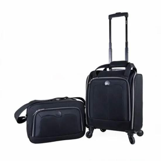 白菜价!Delsey Valence Silvertone 18英寸法国大使登机箱/行李箱+旅行包2件套1.5折 48.75加元清仓!