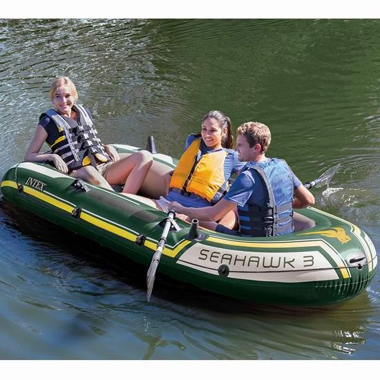 Intex Seahawk 3人坐充气船/橡皮艇/钓鱼船 109.82加元包邮!