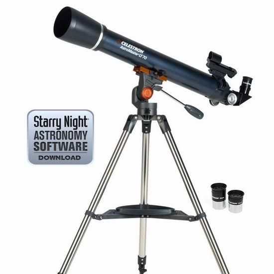 历史新低!Celestron 星特朗 Astro Master LT 70AZ 天文望远镜5.2折 110.28加元包邮!