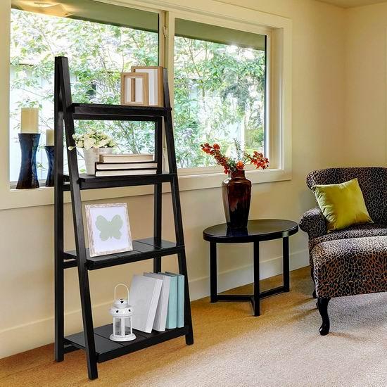 历史新低!Casual Home 360-42 可折叠 4层黑色梯形书架/展示架2.9折 80.51加元包邮!