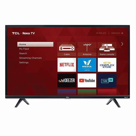 历史新低!TCL 32S327-CA 32英寸 1080P全高清智能电视 179.99加元包邮!