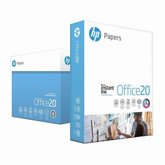 HP Paper 惠普 高质量打印复印多用途纸(5包 2500张)6.6折 29.99加元!