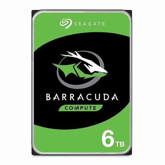 售价大降!历史新低!Seagate 希捷 ST6000DM003 BarraCuda 酷鱼 6TB 机械硬盘5折 119.99加元包邮!