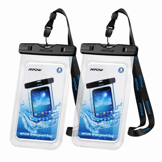 历史新低!Mpow 6.5英寸 通用防水 手机保护袋2件套 7.99加元!