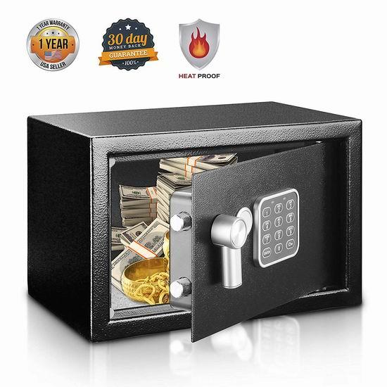 SereneLife SLSFE14 防火 电子密码保险箱 79.59加元包邮!