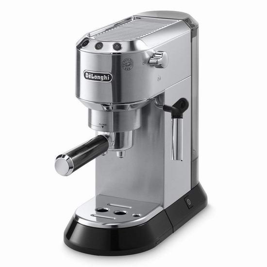 白菜速抢!DeLonghi 德龙 EC680R Dedica 超薄机身 泵压式咖啡机3.9折 149.96加元包邮!