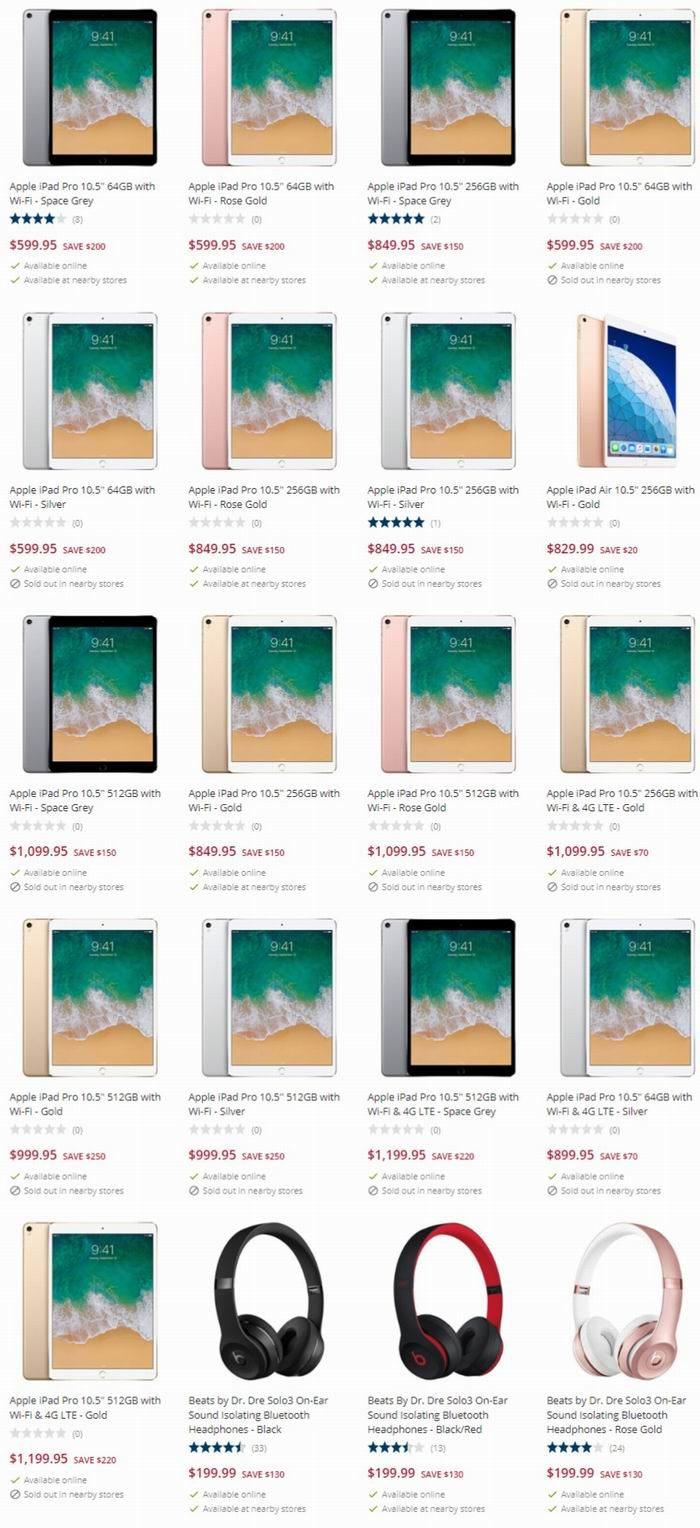 新款 Apple iPad Pro 10.5英寸 平板电脑最高立省250加元!