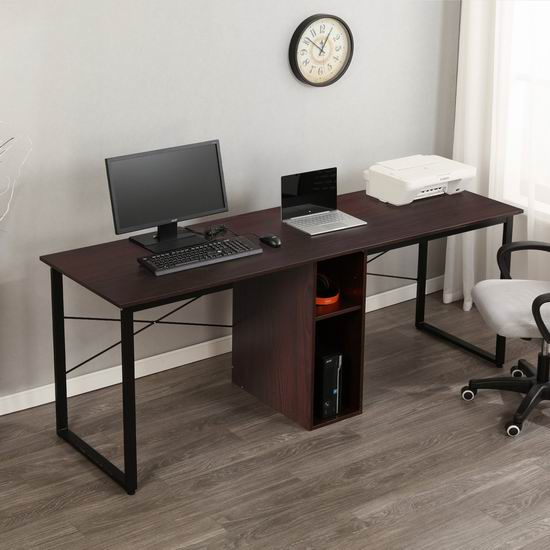 Soges 78英寸 双人加长电脑桌/书桌 143-149加元限量特卖并包邮!3色可选!