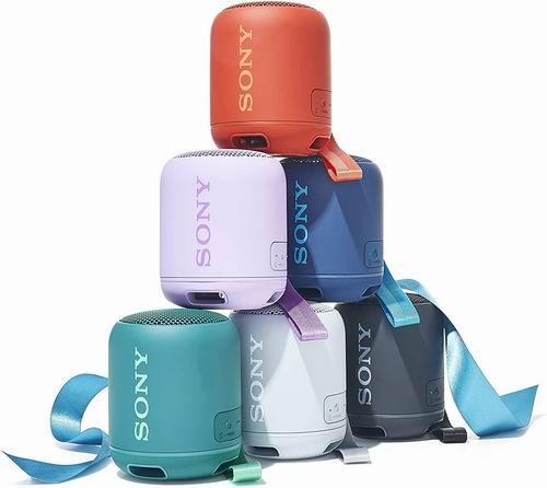 Sony 索尼 Electronics SRS-XB12 便携式蓝牙音箱7.4折 58加元包邮!4色可选!