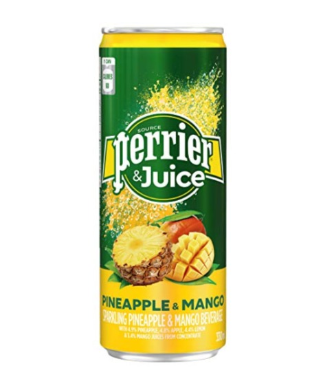 Perrier 法国菠萝芒果味汽水 330毫升 × 24瓶 15.96加元,原价 24.99加元
