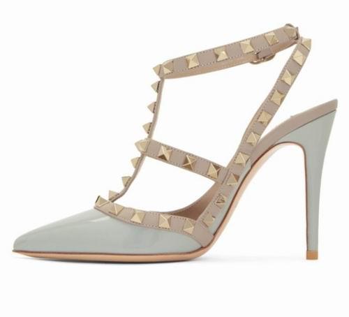 百搭款!Valentino Garavani Rockstud 铆钉高跟鞋 898加元,原价 1320加元,包邮