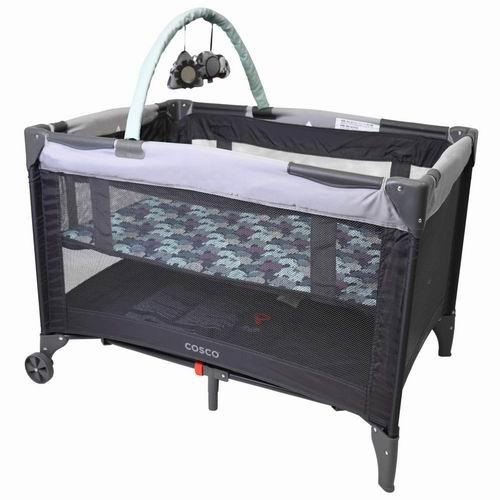 Cosco Funsport豪华可折叠婴儿游戏床/午睡床 79.99加元(4色),原价 128.64加元,包邮