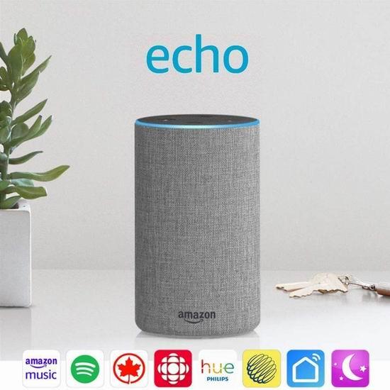 售价大降!历史新低!Echo 亚马逊第二代智能家居语音机器人3.8折 49.99加元包邮!2色可选!