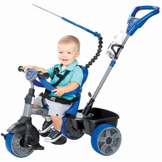 网购周专享:Little Tikes 小泰克 Basic 四合一 手推/脚踏 儿童三轮车 69加元包邮!