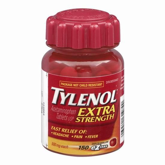 Tylenol 泰诺 Extra Strength 强效退烧止痛片(500mg x 150片)11.47加元
