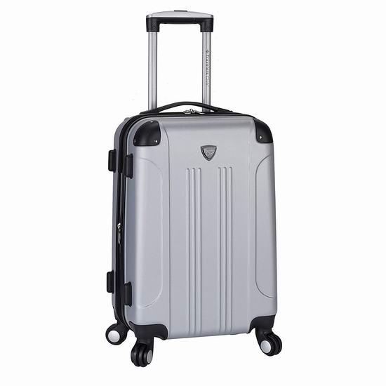 白菜价!历史新低!Travelers Club Chicago 20英寸 可扩展 硬壳拉杆行李箱/登机箱2.8折 36加元包邮!
