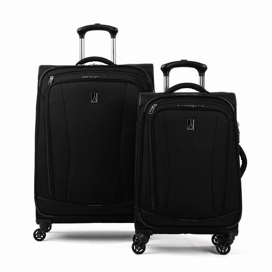历史新低!Travelpro 21/25英寸 轻质黑色软壳拉杆行李箱2件套2.5折 126.39加元包邮!