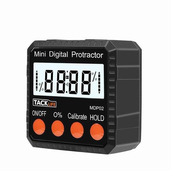 Tacklife MDP02 电子数字角度测量仪5.5折 16.97加元限量特卖!